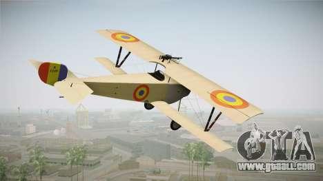Nieuport 11 Bebe - Nr.1249 Romania for GTA San Andreas left view