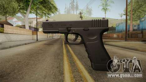 Glock 17 3 Dot Sight Ultraviolet Purple for GTA San Andreas second screenshot
