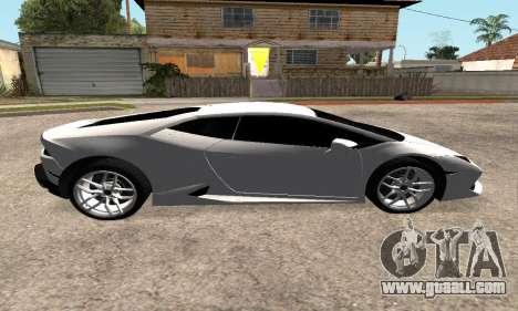 Lamborghini Huracan 2014 Armenian for GTA San Andreas back view