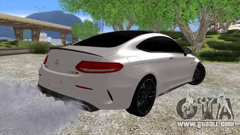 Mercedes-Benz C63 Coupe for GTA San Andreas left view