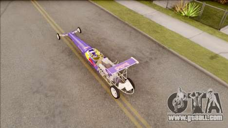 Dragster Red Bull for GTA San Andreas back view