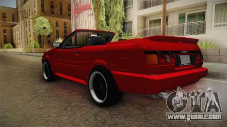 Toyota AE86 Cabrio for GTA San Andreas back left view