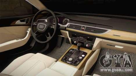 Audi RS7 for GTA San Andreas inner view