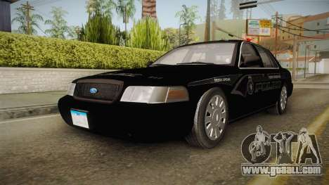 Ford Crown Victoria PI Stealth YRP for GTA San Andreas back left view