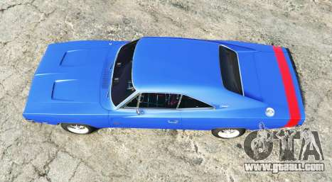 GTA 5 Dodge Charger RT (XS29) 1969 v1.2 [add-on] back view