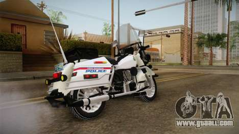 Harley-Davidson Police Bike YRP for GTA San Andreas back left view