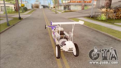 Dragster Red Bull for GTA San Andreas back left view