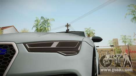 Audi RS7 for GTA San Andreas side view