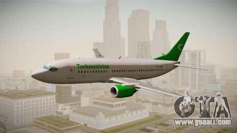 Boeing 737-300 Turkmenistan Airlines for GTA San Andreas back left view