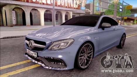 Mercedes-Benz C63S AMG Coupe 2016 v2 for GTA San Andreas