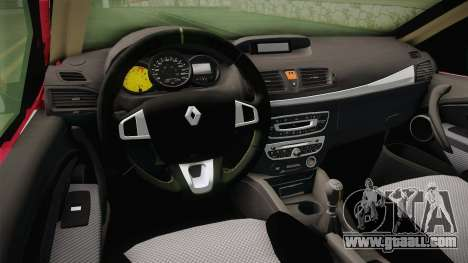 Renault Fluence 2016 for GTA San Andreas inner view