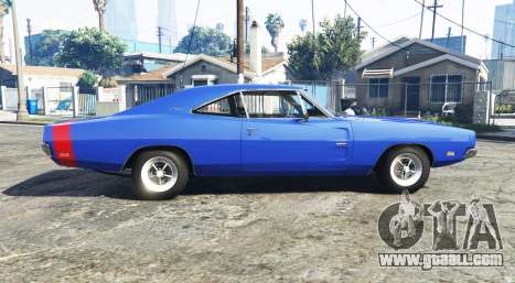 GTA 5 Dodge Charger RT (XS29) 1969 v1.2 [add-on] left side view