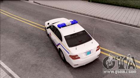 Vapid Police Interceptor Hometown PD 2012 for GTA San Andreas back view