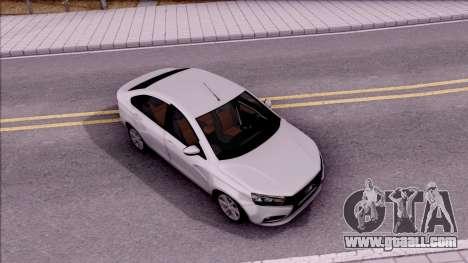 Lada Vesta 2016 for GTA San Andreas right view