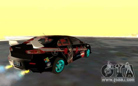 Mitsubishi Lancer Evolution for GTA San Andreas upper view