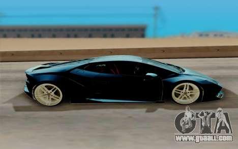 Lamborghini Huracan Custom for GTA San Andreas back left view