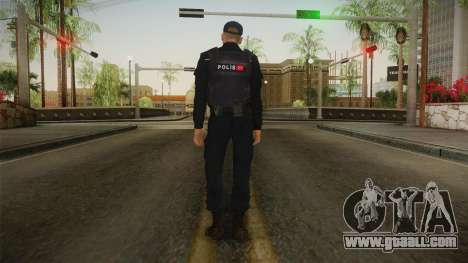 Turkish Police Officer with Kevlar Vest for GTA San Andreas third screenshot