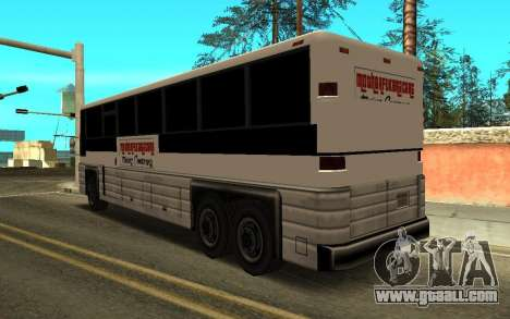 New Coach MFR Tuning 4X4 for GTA San Andreas left view