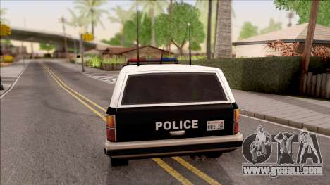 Police Rancher 4 Doors for GTA San Andreas back left view