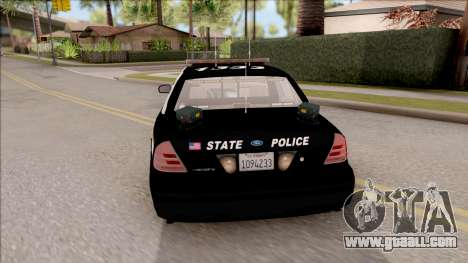 Ford Crown Victoria Central City Police for GTA San Andreas back left view