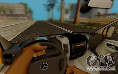 Mercedes Sprinter for GTA San Andreas inner view