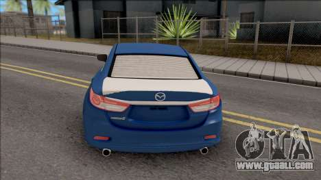 Mazda 6 Standard 2015 for GTA San Andreas back left view