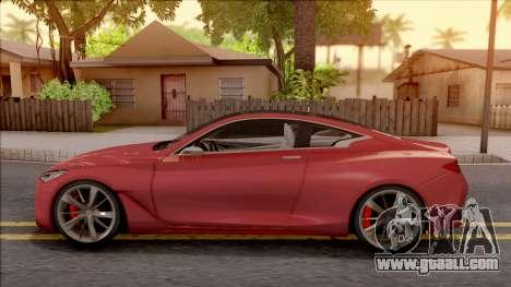 Infiniti Q60 for GTA San Andreas left view