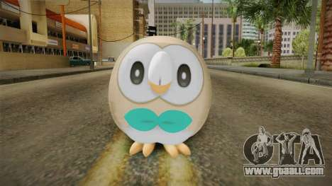 Pokémon SM - Rowlet for GTA San Andreas second screenshot