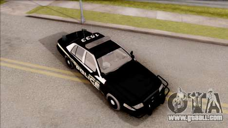 Ford Crown Victoria Central City Police for GTA San Andreas right view