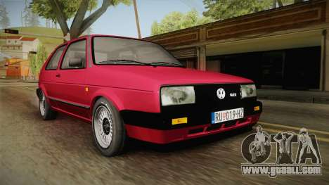 Volkswagen Golf Mk2 J for GTA San Andreas right view