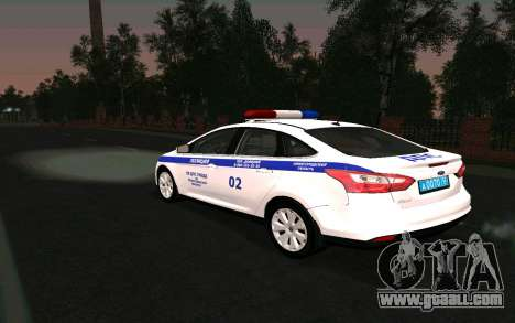 Ford Focus Police for GTA San Andreas left view