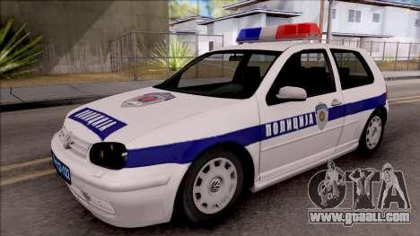 Volkswagen Golf 4 GTI Policija for GTA San Andreas