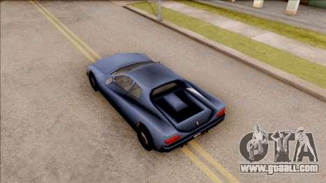 Cheetah from GTA 3 for GTA San Andreas back view