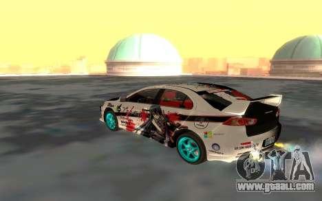 Mitsubishi Lancer Evolution for GTA San Andreas side view