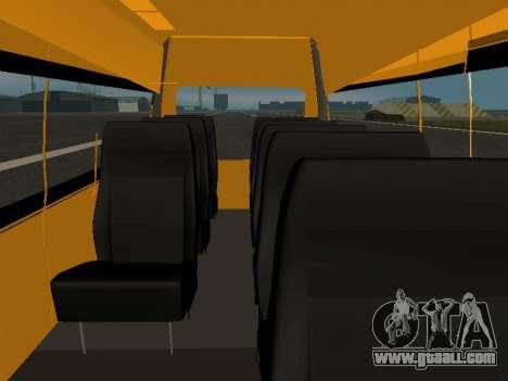 GAS-A65R35 GAZelle NEXT Bus for GTA San Andreas inner view