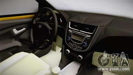 Hyundai Accent 2011 for GTA San Andreas inner view