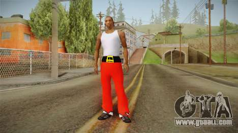 Red pants Santa Claus for GTA San Andreas third screenshot