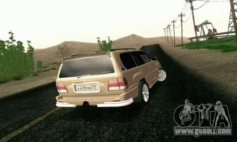 LEXUS LX470 Exclusive for GTA San Andreas back left view