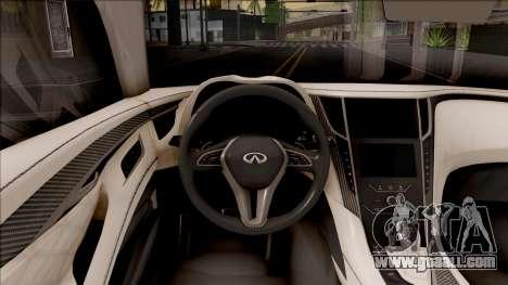 Infiniti Q60 for GTA San Andreas inner view