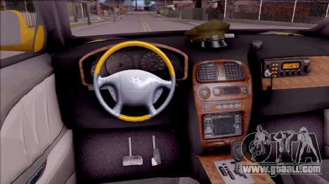 Hyundai Accent Taxi Colombiano for GTA San Andreas inner view