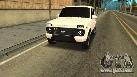 Niva Urban Armenia for GTA San Andreas back view