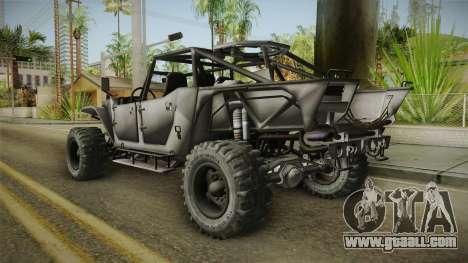 Ghost Recon Wildlands - Unidad AMV No Minigun v2 for GTA San Andreas left view