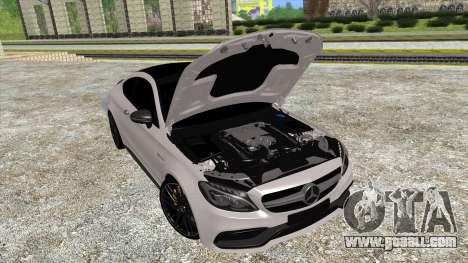 Mercedes-Benz C63 Coupe for GTA San Andreas back left view