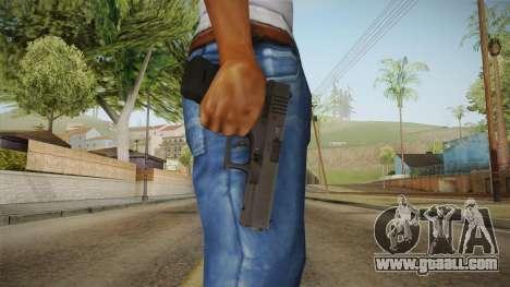 Glock 17 3 Dot Sight Ultraviolet Purple for GTA San Andreas third screenshot