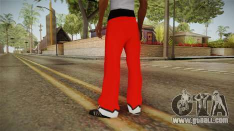 Red pants Santa Claus for GTA San Andreas second screenshot