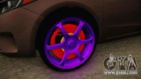 Kia Cerato Eccentric for GTA San Andreas back view