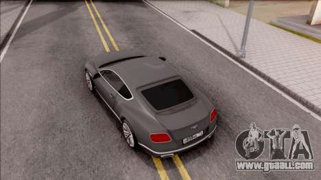 Bentley Сontinental GT for GTA San Andreas back view