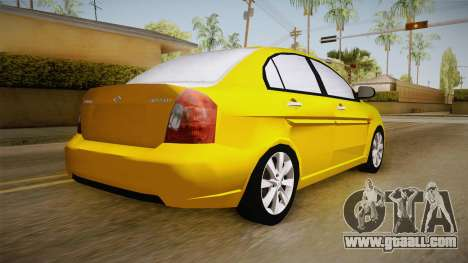 Hyundai Accent 2011 for GTA San Andreas left view