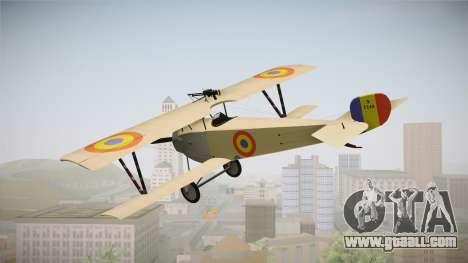 Nieuport 11 Bebe - Nr.1249 Romania for GTA San Andreas right view
