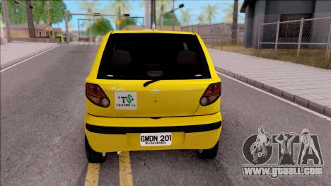 Daewoo Matiz Taxi for GTA San Andreas back left view